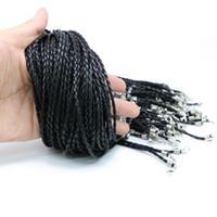 3.0mm Kunstleder Halskette Schnur 100 Stücke / Tasche für Modeschmuck machen DIY Zyn 0003