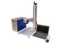 الطاولة 20W 30W الألياف الليزر آلة وسم، Raycus العلامة التجارية الموارد. لوسم المعادن والفولاذ المقاوم للصدأ المواد