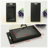 携帯電話ケースのための普遍的なクラフトブラックペーパー小売パッケージの箱ボックス5S 6 6SプラスサムスンギャラクシーS7 S6エッジOEM