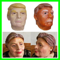 New USA President Donald Trump Latex Masks Funny Hillary Dia...