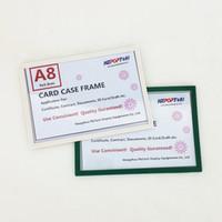 A8 Plastik POP Kağıt Burcu Kart Fiyat Etiketi Ekran Göster Vaka Çerçeve Perakende Mağaza Raf Üzerinde Promosyon Manyetik veya Bant tarafından Sticked 20 adet