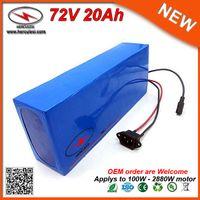 Güçlü 2880W Lityum Batarya 72V 20AH EBike Pil Paketi 26.650 kullanılmış 20S4P Hücreli Li Ion Pil 40A BMS