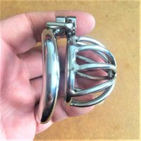 Screw Lock Ergonomic Design Stainless Steel Male Chastity De...