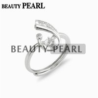 5 Pieces Jewellery Findings Ring Setting Zircon 925 Sterling...