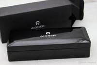Gratis Versand - Aigner Kopie High-End-Clamshell Schwarz Holz Stift Box Office und Schule Schreibwaren Geschenkbox