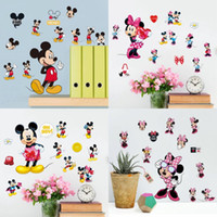 Perfect As Pic Vinyl Cartoon Wholesale  Hot Sale Mickey Mouse Minnie Mouse Bathroom  Decoration Cartoon Cute Glass Wall Stickers Free Shipping 20*30 CM Part 24