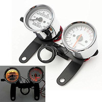 범용 3 in 1 오토바이 스쿠터 타코미터 주행 속도계 검정색 브래킷