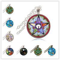 خمسة عناصر الخماسي قلادة الخماسي باقان الثلاثي القمر آلهة قلادة خمسة وأشار نجم النجوم مجوهرات ساحرة القوطية مجوهرات هدايا