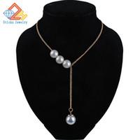 Corée nouvelle mode élégante perle cristal collier de perles (taille: 1.2cm)