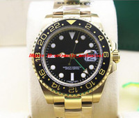 Reloj de pulsera de lujo NUEVO II 18K Oro Amarillo Dial Negro 116718 BK Bisel de Cerámica Automático Relojes de Los Hombres de Calidad Superior