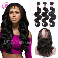 XBL Body Wave 360 ​​Lace Closure Vierge Cheveux Body Wave 360 ​​Lace Frontal Closure Within Bundles