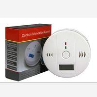 Högkvalitativ vägg LCD CO Carbon Monoxid Detector Förgiftning Gas Varning Sensor Monitor Tester Larm med Retail Box 60st / Lot DHL Gratis