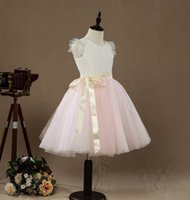 Beautiful Lovely A- line Knee- length Flower Girl Dress Lace T...