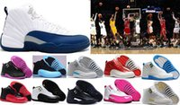 Alta calidad 12 OVO White Gym Red Gamma Blue Hombres Zapatos de baloncesto Mujeres Hombres 12s TAXI Flu Game Playoffs flint gray Sports Sneakers