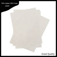 200 sheets 0. 13mm thickness printinng paper 75% cotton 25% l...