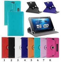 360 graus de rotação Universal Tablet PU Bolsa em couro flip stand Capa Bolsa para 7 8 9 10 polegadas