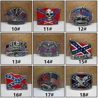 أحزمة الأزياء bucklesamerican أعلام النسر الرجال حزام الابازيم خمر الجمجمة الصليب نجمة العلم مستطيل beltbucklec009