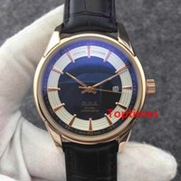 Luxury Brand Automatic Watch Steel Mens Leather Strap Glass ...