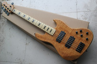 Custom 5 Strings Tiger Flame Maple Top Natural Jazzbass Elec...
