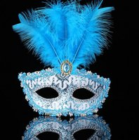 Venetian party party mask upscale halloween feather half fac...