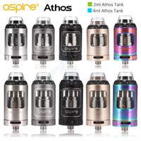 Authentique Aspire Athos Tank 2ml TPD 4ml Version standard Sub Ohm 25mm Diamètre Top Refilling Vape Atomizer vapeur et atomiseurs DHL