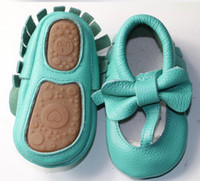 20 colors New Genuine Leather Baby Moccasins Shoes T- bar har...