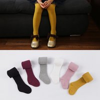 Autumn Winter Girls leggings Toddler Popular Candy color Soc...