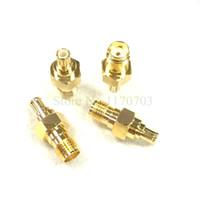 100 piezas MCX macho a SMA hembra conector JACK adaptador de conector recto rf