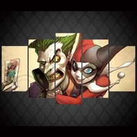 5 Pz / set Incorniciato HD Stampato Joker Karta Dc Animazione Immagine Wall Art Canvas Room Decor Poster Su Tela Moderna Pittura A Olio