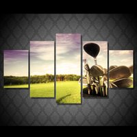 5 Pcs Canvas Golf professional golf course Art Home Decor Ca...