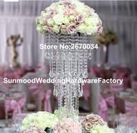 новое прибытие Кристалл акриловые столбы для свадьбы этап Дорога свинец цветок стенды для таблицы