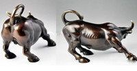 Big Wall Street Bronze Fierce Bull OX Статуя / 13 см * / 5,12 дюйма