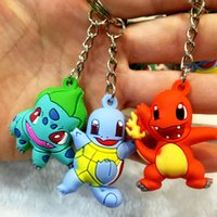 Hot Sale 4*3cm Pikachu Squirtle Charmander Bulbasaur PVC Key...