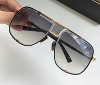 Gafas de sol para hombre enfriar 2087 Negro Oro gris degradado de los hombres gafas de sol cuadradas RARO ESTUPENDO nuevo con la caja