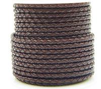 Rindsleder Schnur, mit Kunststoff-Spule, unterschiedlicher Größe für Wahl, Kaffeefarbe, rund, für Halskette, Armband, verkauft von PC