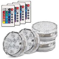 10- LED RGB Waterproof Battery Powered Lights with IR Remote ...