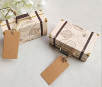 100pcs Vintage Suitcase Favor Box Wedding Candy Boxes Party ...