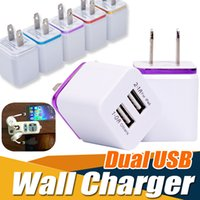 Metal Dual USB Wall Charging Charger EUA UE Plug 2.1A AC Power Adapter Plug 2 Portas para iPhone XS Além disso X 8 7 Samsung Galaxy Note 9 S9 Sony LG