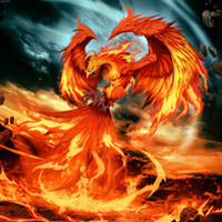 Fire Phoenix Pattern DIY Diamond Painting Embroidery 5D Cros...