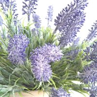 Plast Lavendel Artificial Flower Bush 32cm Tall Deep Purple 7 Flower Heads for Wedding Garden Chiristmas Decorations