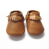 The best selling color Ginger baby moccasins soft leather mo...