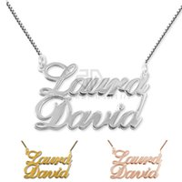 231ada7d908558 New Arrival Personalized Nameplate Pendant Customized Name Necklace Classic Name  Necklace Made by 316L Stainless Steel