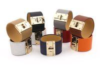 Металлические шарм H браслеты широкие кожи PU браслеты браслеты для женщин мужчины панк Femme Pulseira Feminina Masculina ювелирные изделия