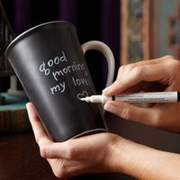 Wholesale- 1pc ceramic leaving message mug with pen classic ...