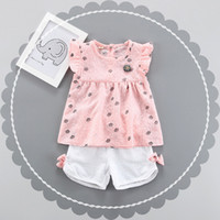 Girls Crown Print Tunic Tops+ Bow Pants 2 Pieces Set Summer 2...