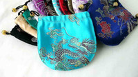 Wholesale Cheap Mixed 50 Chinese Silk Jewelry Necklace Pouch