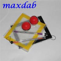 Ensemble contenant en silicone avec outil babber de 120 mm et tapis en feuille de silicone Contenant en silicone de 6 ml en forme de pokeball