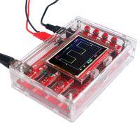 Freeshipping 2.4 pulgadas TFT portátil de bolsillo del osciloscopio digital de DIY Kit de piezas de acrílico + DIY caso de Shell Cubierta para DSO138