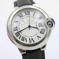 Hot Sell New Luxury quartz Ballon Leather Black Stainless St...