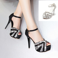 12cm Glitter Sequined Silver High Heels Platform Pumps Bride...
